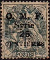 Syrie Obl. N°  45 - Type Blanc Surchargée 25 Centièmes Sur 1c Gris-noir - Oblitérés
