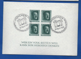 Bloc Et Feuillet   Non Dentelé     Adolf Hitler  Oblitération: MÜNCHEN 20 April 1937 - Used Stamps