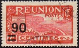 Réunion Obl. N° 102 - Vue -> Rade De Saint Denis - Surchargé 90 Sur 75c Rouge - Oblitérés