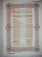 ! Breslau, 1.4.1926 Schlesische Landschaft, Goldpfandbrief 1000 Goldmark, 8% Zinsen, Bond, Emprunt - Andere