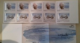 GREECE , 2019, MNH, GANDHI, 150 YEARS SINCE BIRTH OF GANDHI, BOOKLET - Mahatma Gandhi