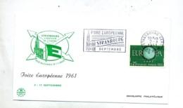 Lettre Flamme Strasbourg Foire Sur Europa - Storia Postale