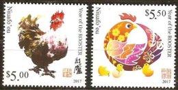 Tonga Niuafo'ou 2017  Micheln° 658-659 *** MNH Faune Oiseaux Année Du Cocq Rooster Haan - Tonga (1970-...)