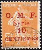 Syrie Obl. N°  84 - Semeuse Surchargée 10 Centièmes Sur 5c Orange - Oblitérés