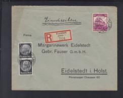 Dt. Reich R-Brief Frankfurt Oder Nach Eidelstedt - Briefe U. Dokumente