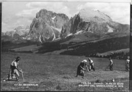 DOLOMITI - ALPI DI SIUSI - IL SASSOLUNGO -ANIMATA - TIMBRO RIFUGIO -  VIAGGIATA 1963 FRANCOBOLLO ASPORTATO - Alpinismo