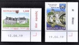 MONACO 2019 - SERIE 2 TP / ANCIENS FIEFS DES GRIMALDI - NEUFS ** - Monaco