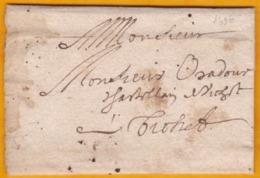 1686 - Lettre Avec Correspondance De Riom, Puy De Dôme Vers Tréhet, Loir & Cher (?) - Règne De Louis XIV - Marcophilie (Lettres)