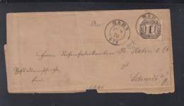 Faltbrief Bahn 1870 Polen Poland - Norddeutscher Postbezirk (Confederazione Germ. Del Nord)