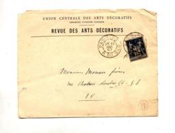 Devant De Lettre Cachet  Paris 80 Sur Sage Entete Revue Arts Decoratifs - 1877-1920: Période Semi Moderne