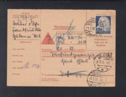 Dt. Reich Nachnahme-Karte 1935 Frankfurt Oder Nach Zielenzig - Briefe U. Dokumente