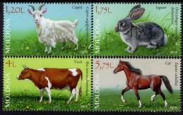 Moldova - 2019 - Domestic Animals - Mint Stamp Set - Moldavie