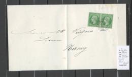 France - Yvert 20 En Paire - VARIETE FILET ABSENT - 1871 - Postmark Collection (Covers)