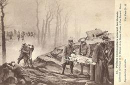 "5142 "" PRETRES BRANCARDIERS RELEVANT LES BLESSES "" 1915 -CART. POSTALE ORIG. NON SPEDITA - Guerra 1914-18"