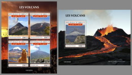 DJIBOUTI 2019 MNH Volcanoes Vulkane Volcans M/S+S/S - OFFICIAL ISSUE - DH1935 - Volcans