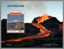 DJIBOUTI 2019 MNH Volcanoes Vulkane Volcans S/S - IMPERFORATED - DH1935 - Volcans