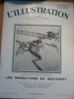 Illustration 4541 1930 Inondation Reole Trebes Castres Moissac Bordeaux Tokio Pankhurst Draa - Newspapers