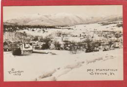 Real Photo Postcard - Vermont Stowe Mt Mansfield - Etats-Unis