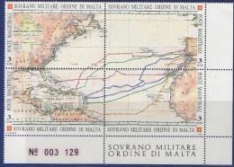 PIA - SMOM - 1992 : 500° Della Scoperta Dell' America   - (UN 410-13) - Malta (la Orden De)