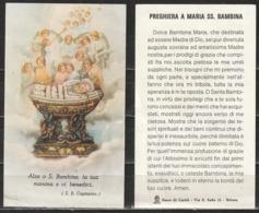 # Santino - Preghiera A Maria SS. Bambina - Suore Di Carità - Milano - Santini