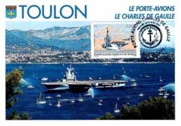 YT 3557 - Porte-Avions Charles De Gaulle - Carte Maximum 2003 - Cartas Máxima