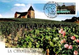 YT 3561 - Les Vignobles De Champagne - Carte Maximum 2003 - Cartas Máxima