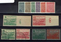 Allemagne - 1945 - Saxe - N° 1-6 + N° 20-21 Et 20 A-21 A - Neufs Et Oblitérés - B/TB - - Sowjetische Zone (SBZ)