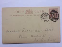 GB Victoria 1896 Postcard Bristol Duplex To Salisbury - `J. Schweppes` - Briefe U. Dokumente
