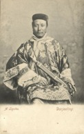 Tibet Thibet, Armed Native Lepcha Male With Sikkim Sword (1910s) Postcard (1) - Tibet