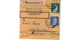Allemagne  - Colis Postal  - Départ  Ludwigshafen   ( Rhein ) - 20-2-43 - Allemagne