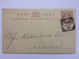GB Victoria 1896 Postcard With Bristol Squared Circle Postmark - `J. Schweppe & Co.` - 1840-1901 (Victoria)