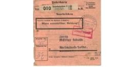 Allemagne  - Colis Postal  - Départ Saarbrücken  - 20-2-43 - Allemagne