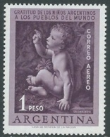 1956 ARGENTINA POSTA AEREA QUADRO LEONARDO DA VINCI MNH ** - UR42-9 - Nuovi