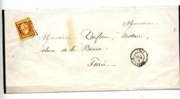 Lettre Cachet Losange Versailles Sur Napoleon - 1849-1876: Période Classique