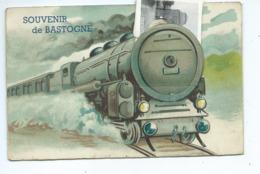 Bastogne Carte à Système Avec Petites Vues ( Train ) - Bastogne