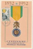 Carte Maximum - Centenaire De La Création De La Médaille Militaire - Madagascar