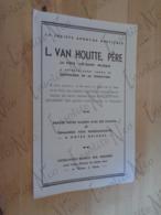 Feuillet Publicitaire Maison Louis Van Houte, Père - La Pinte (Lez-Gand) Années 50 - Publicidad