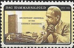 USA 1962 Hammarskjold - 4c Dag Hammarskjold And U.N. Headquarters MNH - Ungebraucht
