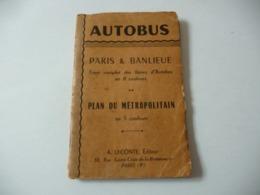 Autobus Paris Banlieue Plan Petropolitain Leconte Editeur Librairie De Larmee Bellugue Joint Paris Vii - Cartes Routières