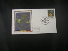 """BELG.1992  2444 FDC Soie/zijde (Leopoldsburg) : """" De Weerstand / La Résistance """" - FDC"""