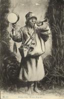 Tibet Thibet, Tibetan Lama Beggar With Drum And Prayer Wheel (1910s) Postcard I - Tibet