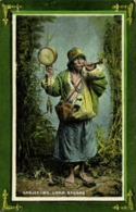 Tibet Thibet, Tibetan Lama Beggar With Drum And Prayer Wheel (1910s) Postcard II - Tibet