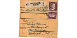 Allemagne  - Colis Postal  - Départ  Frankfurt - Niederrad - Allemagne