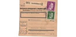 Allemagne  - Colis Postal  - Départ Saarbrücken  -  Pour Beningen   ( Bening ) - Alemania