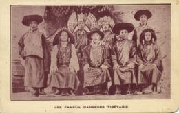 Tibet Thibet, Group Of Tibetan Dancers, Costumes (1925) Expo Postcard - Tibet