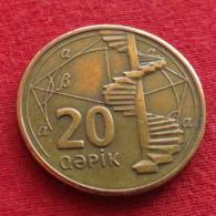 Azerbaijan 20 Qapik 2006 KM# 43  Azerbeijão Azerbaijão Aserbaidschan Azerbaidjan AZERBAIGIAN - Azerbaiyán