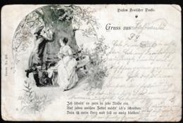 N 422) DR 5.5.1899 Mi# 46 EF Pfufenhotte ? (Elsass) - Strassburg: Poesie-Karte - Briefe U. Dokumente