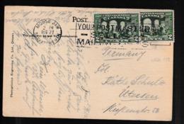 N 421) Canada 2.8.1927 Mi# 119 (2): Quebec-Konferenz, AK Moose Jaw Nach Uetersen - 1911-1935 Règne De George V