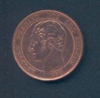 BELGIQUE - Mariage Du Duc De Brabant Avec Marie-Henriette - Module En Cuivre Du 10 Centimes 1853 – PETITS CHIFFFRES - Monétaires / De Nécessité