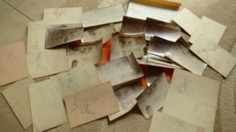 LES VIGNEAUX-DIGNE-Htes Alpes-Photos Des Peintures Murales De L'Église + Dessins-relevés Couleurs+ Notes /Vices & Vertus - Lieux